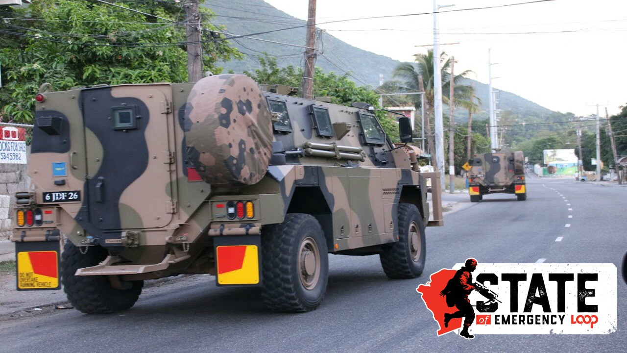 Jamaica Defence Force (JDF) armoured personnel carriers on deployment (file photo)