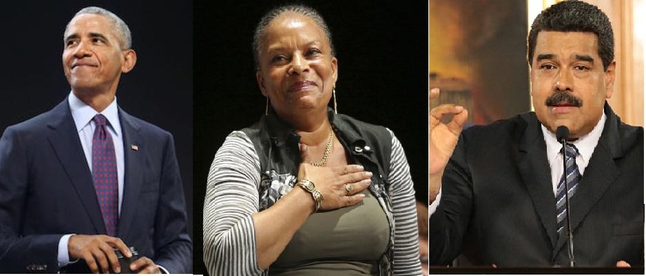 Barack Obama, Christiane Taubira et Nicolas Maduo