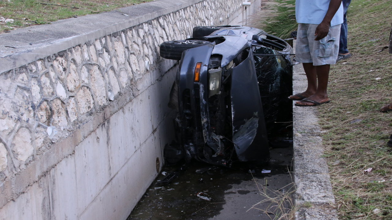 The driver reportedly lost control of the vehicle.
