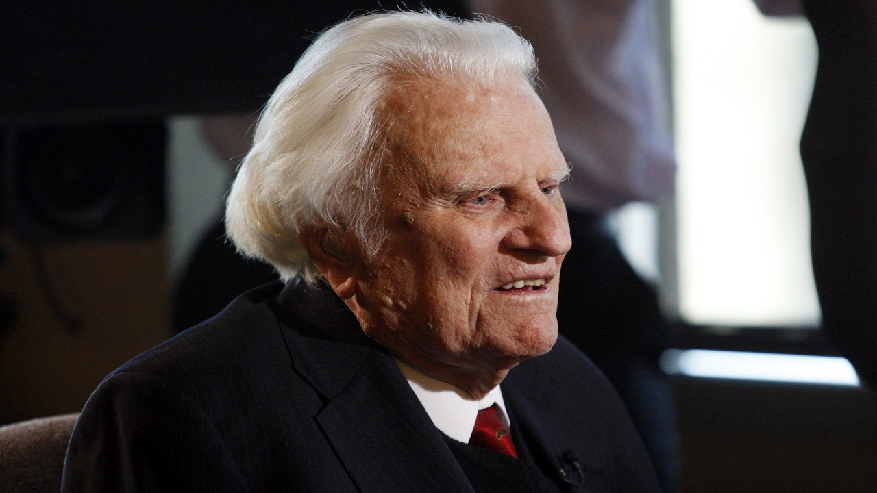 (Image: AP: Billy Graham in file image from December 2010)