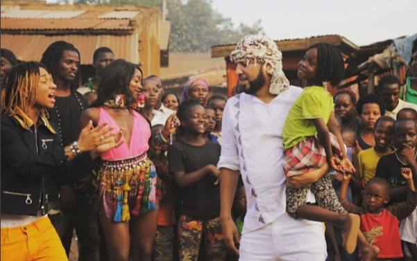 French Montana in Uganda shooting Unforgettable music video