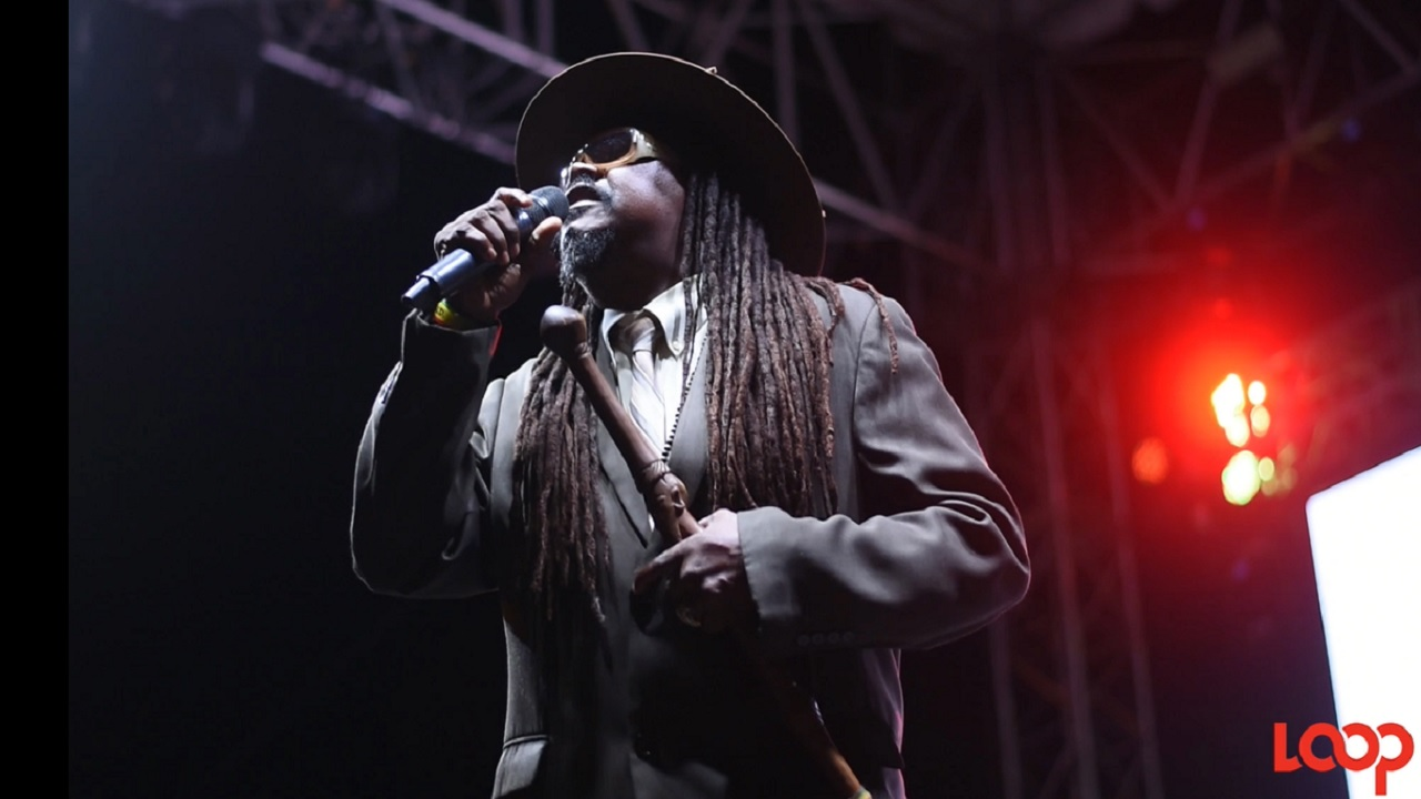 Luciano performs at the Reggae Icons Concert in celebration of Dennis Brown on Sunday.