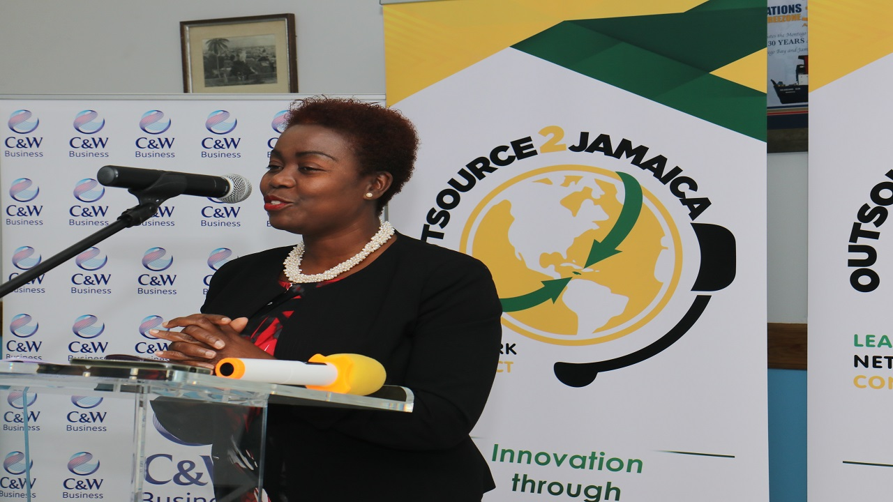 Gloria Henry, president of the  Business Process Industry Association of Jamaica.