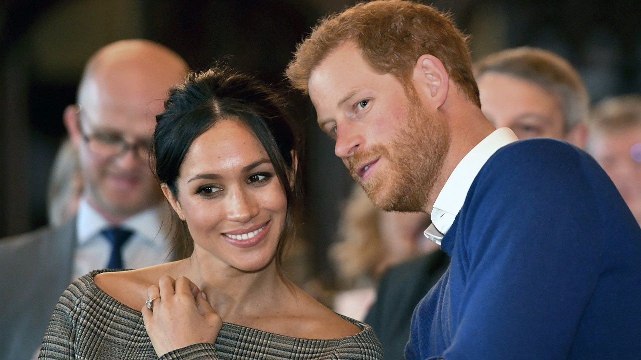 (Image: AP: Prince Harry and Meghan Markle, pictured on 18 January 2018)