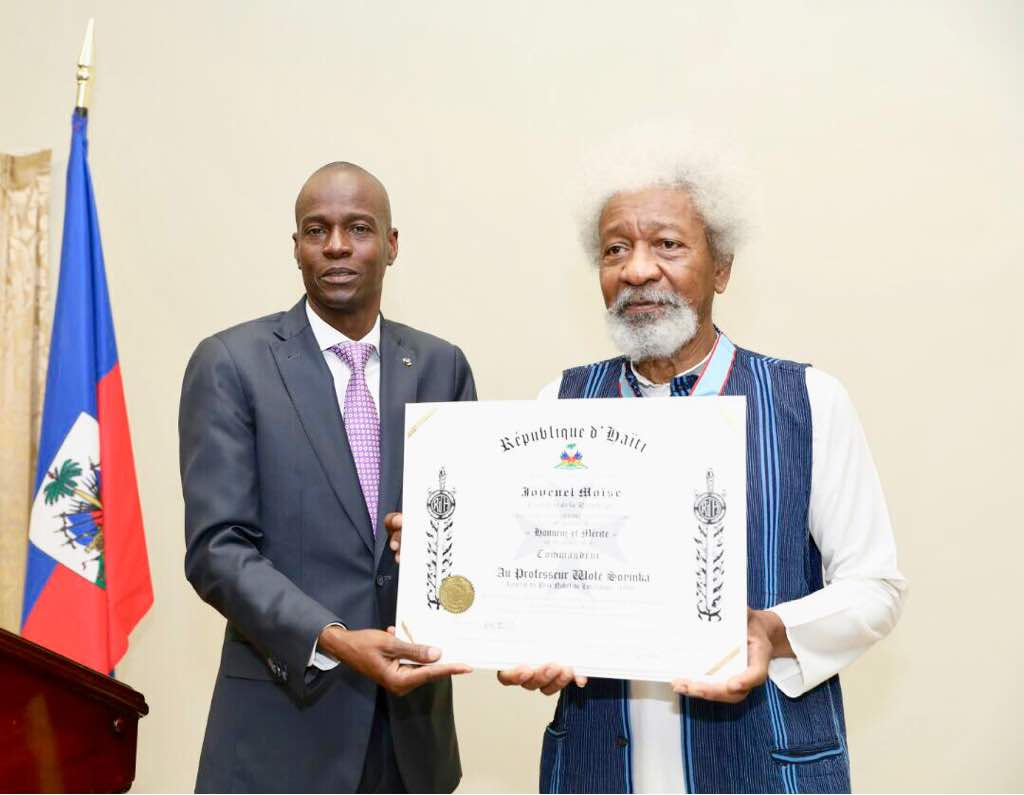 Image result for Wolé Soyinka in haiti