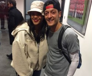 Rihanna with Mesut Özil.