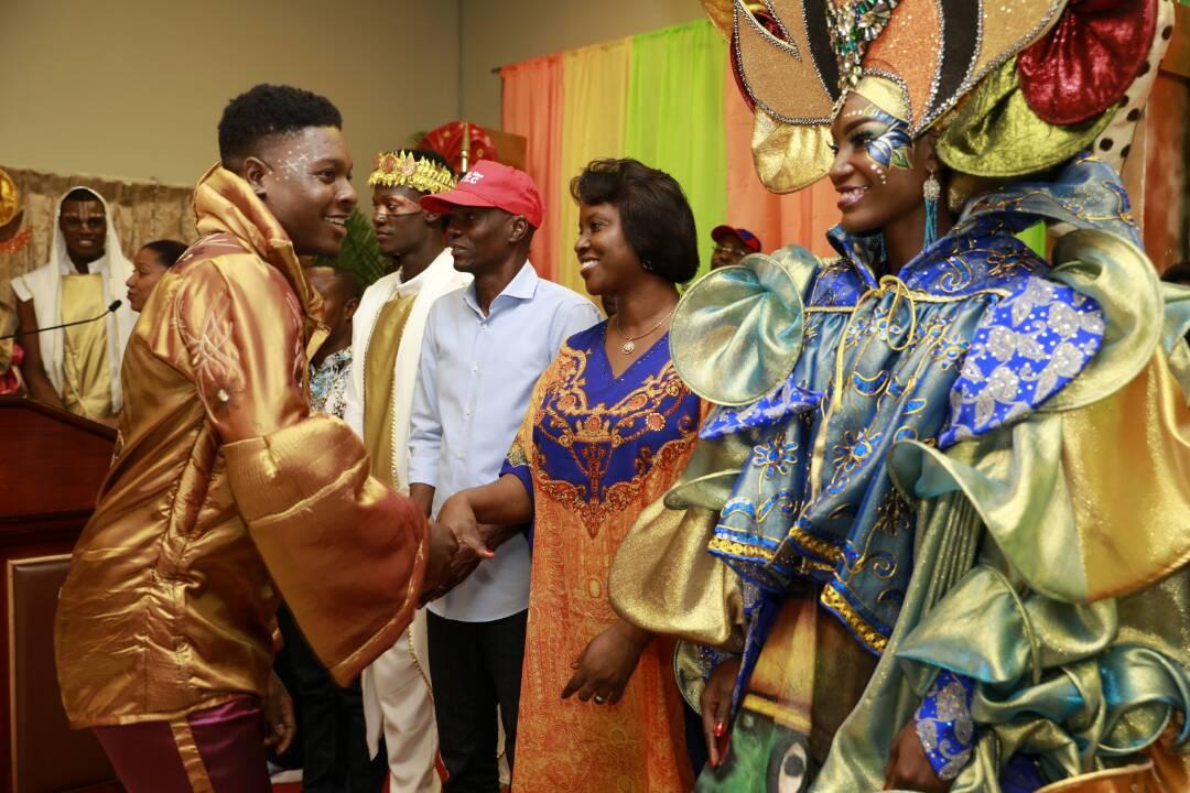 """Le président pense que """"Le carnaval doit être mieux organisé"""" si l'on veut qu'il soit un vecteur économique et touristique. Photo: Jovenel Moise (Facebook)"""