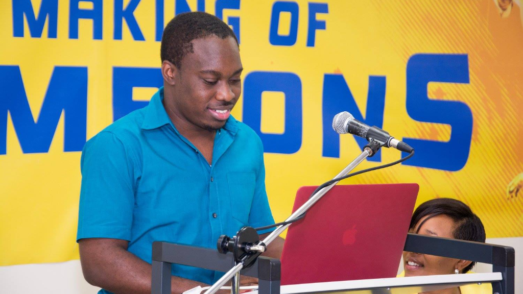 (Photo:  Theo Taylor, student and UWI Games App Developer.)