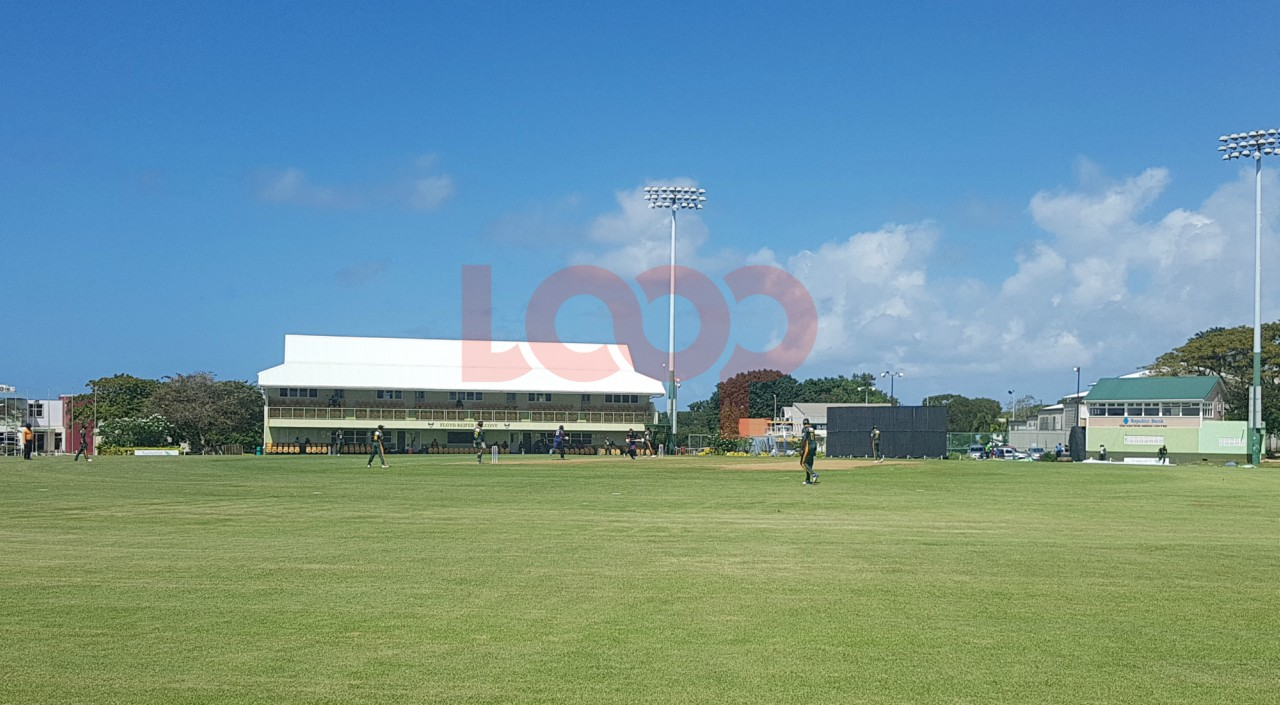 CCC Marooners vs Windward Island Volcanoes at The 3Ws Oval in Barbados.