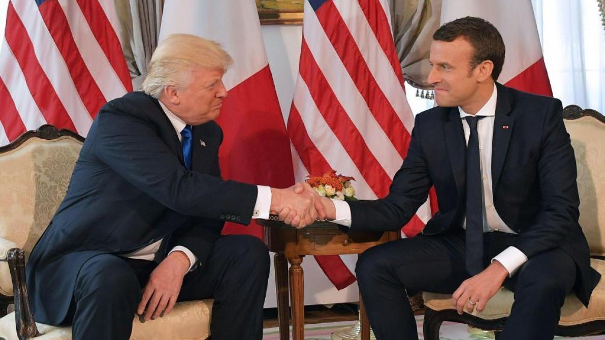 Trump recevra macron le 24 avril à la maison blanche