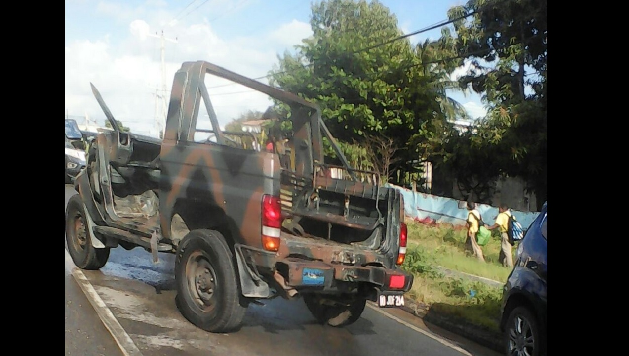 The JDF vehicle involved in the crash.