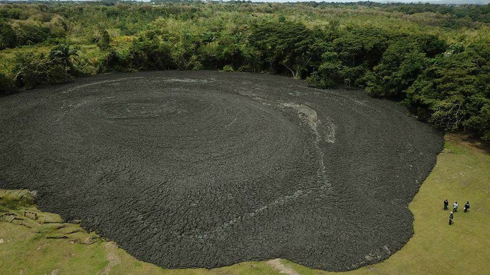 Homes evacuated as Devil's Woodyard mud volcano erupts twice