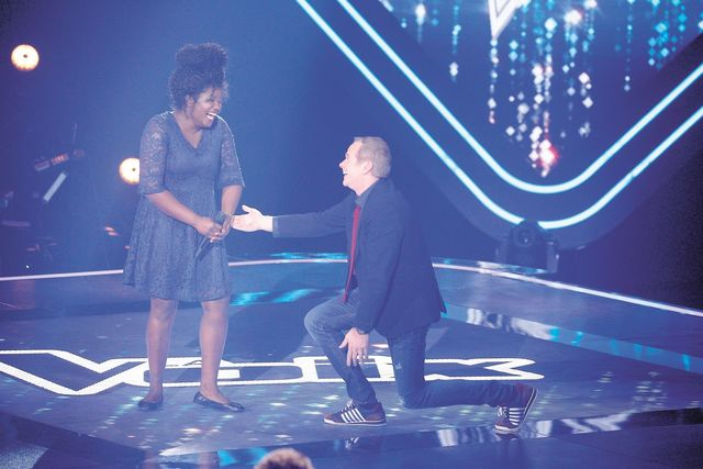 Yana Laurent choisit par Garou à The Voice. Photo: Journal de Montréal