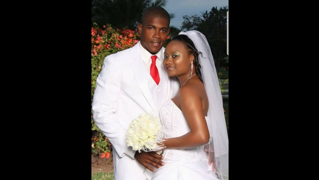 Omar Collymore and his wife, Simone, in happy times.