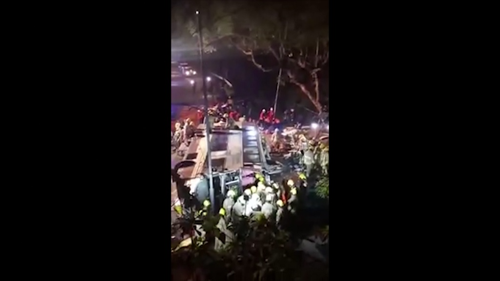 At least 19 dead after double-decker bus crash in Hong Kong