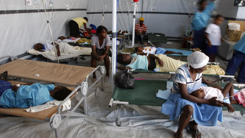 Un Centre de Traitement de Choléra (CTC) en Haïti. Photo: RFI