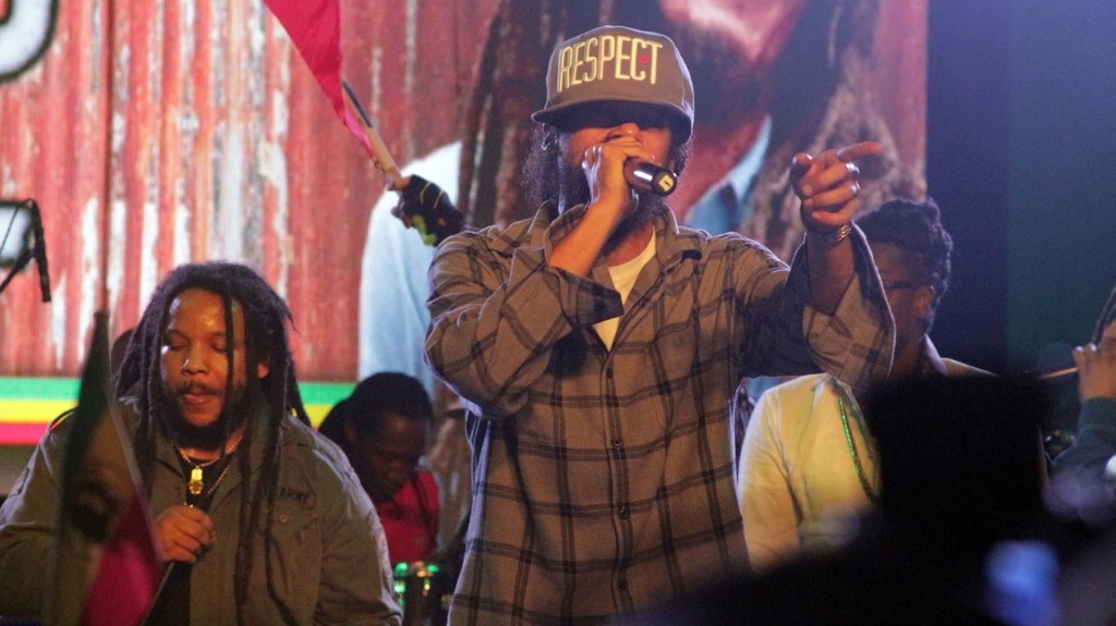 Damian Marley, the youngest son of Bob Marley, performs at the late reggae icon's birthday celebrations last year.