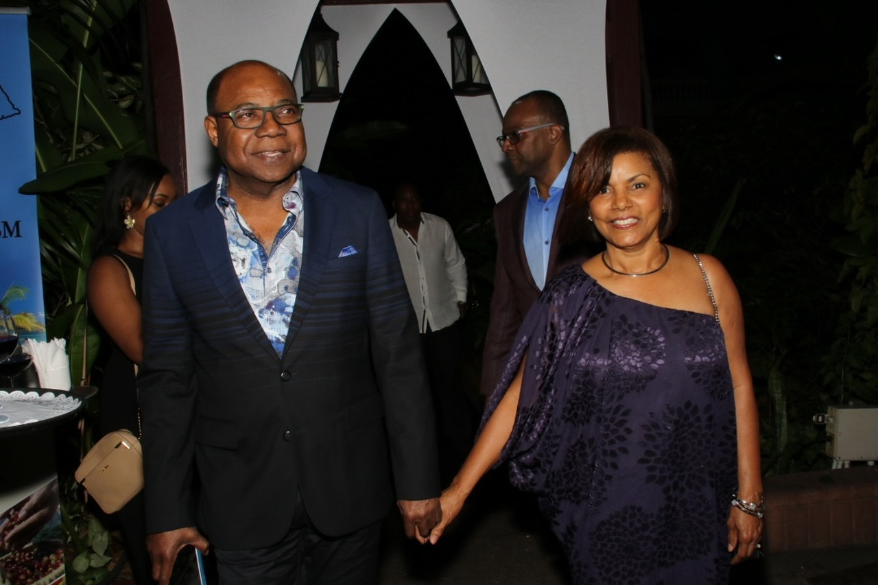 Tourism Minister Ed Bartlett and his beautiful wife Carmen arrive for the reception. (PHOTOS: Llewellyn Wynter)