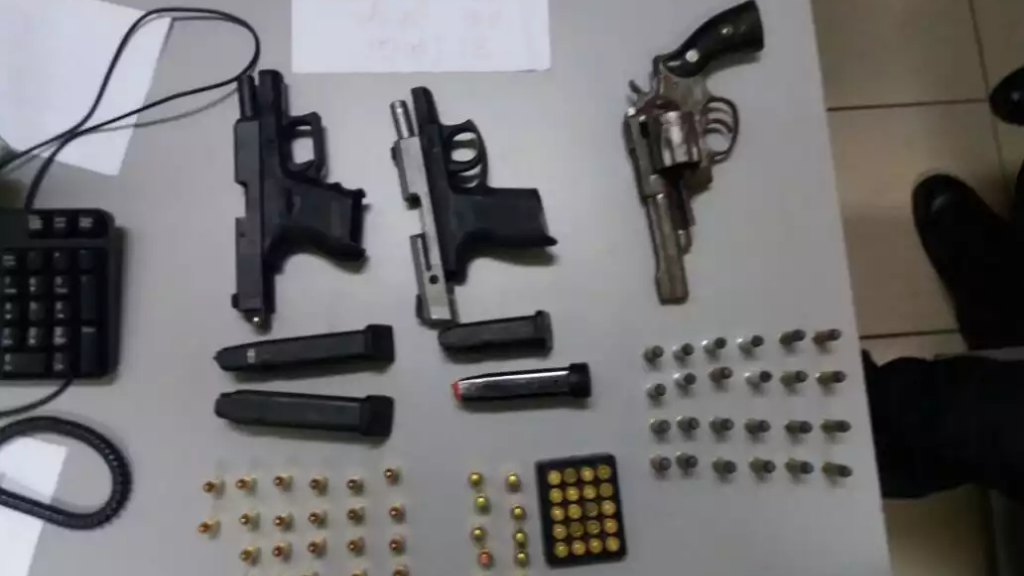 File photo of guns seized during a recent operation