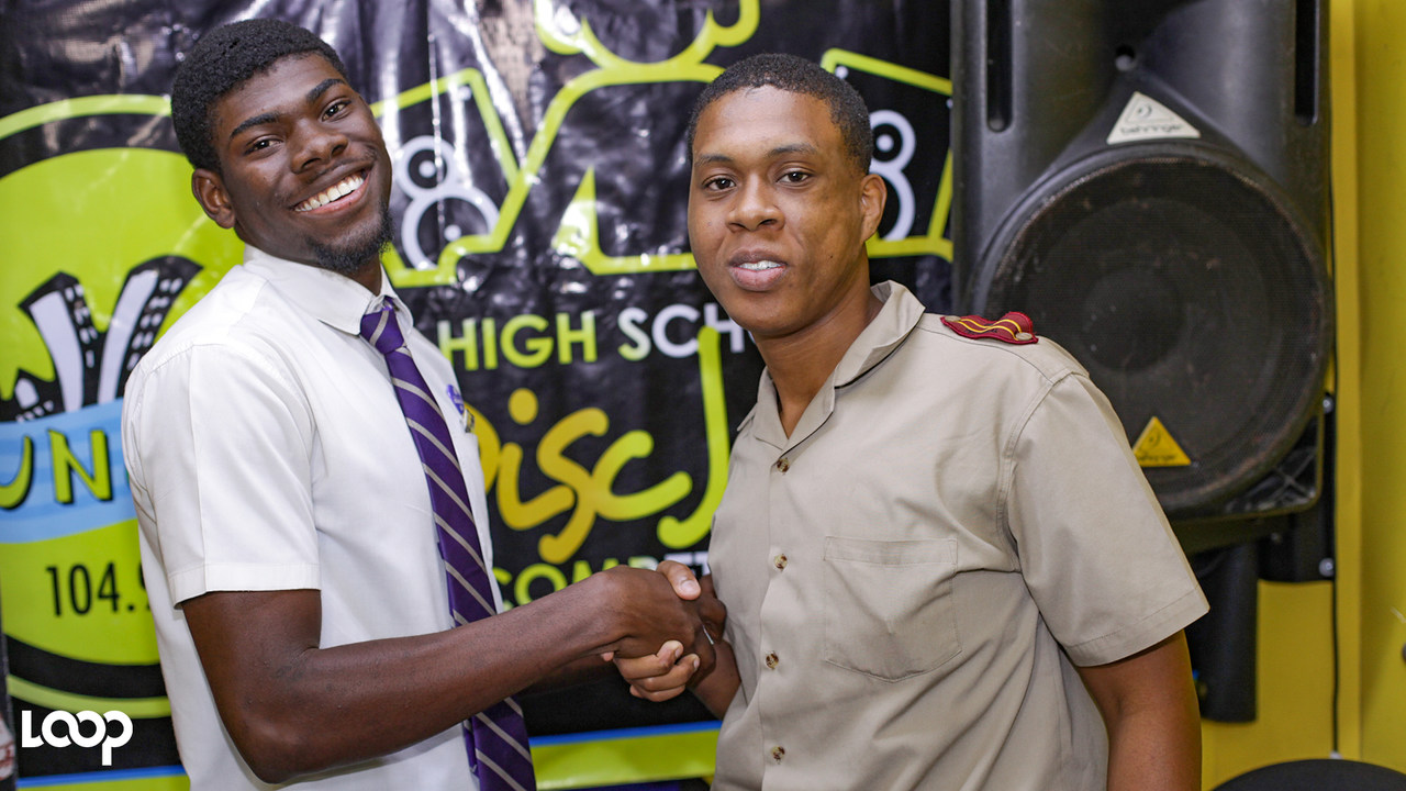 DJSpana (left) with Dj Sani from Dinthill Technical (PHOTOS: Shawn Barnes)