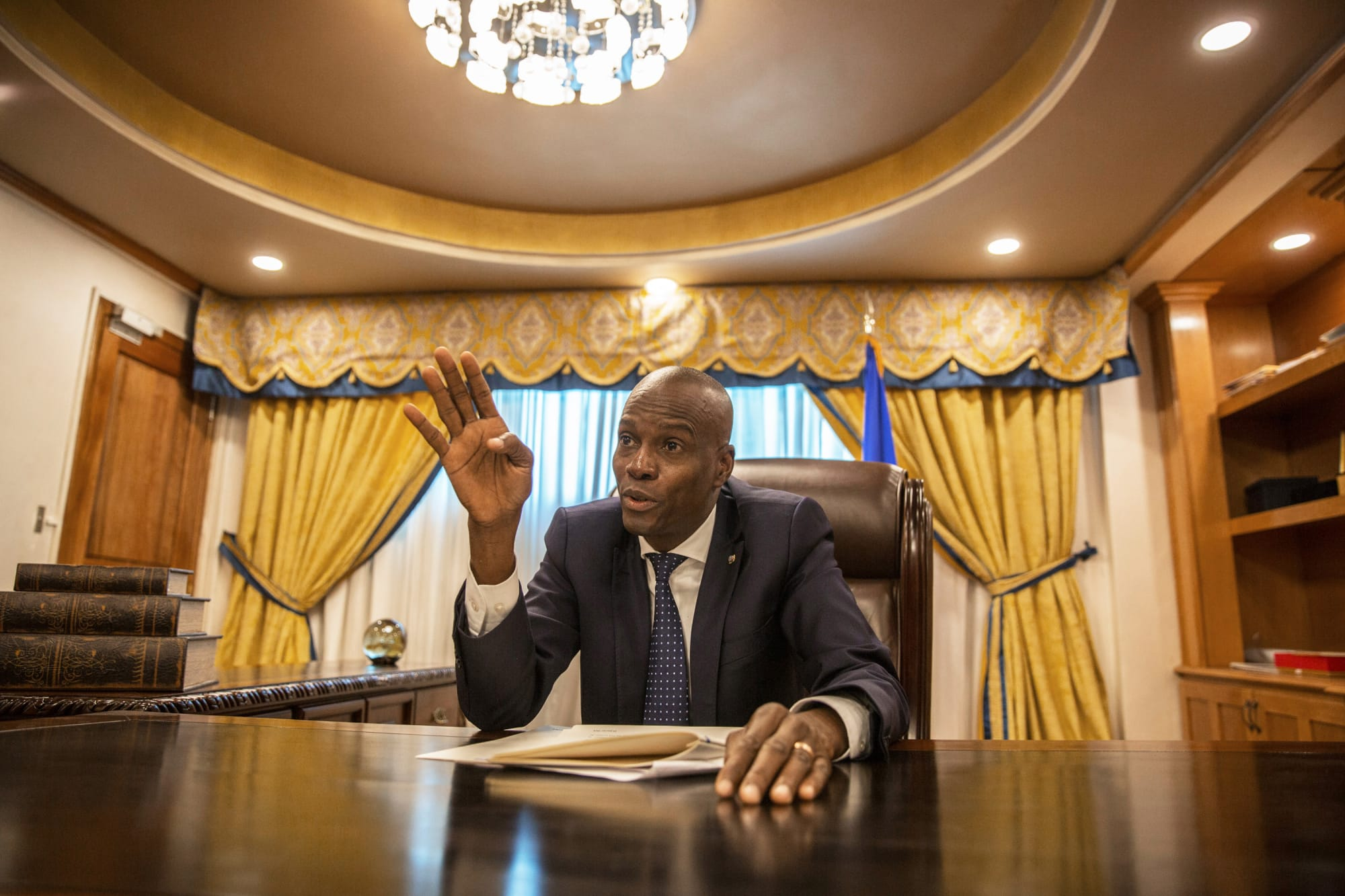Pour Jovenel Moise, Donald Trump a raison sur un point. Photo: Alejandro Cegarra/Bloomberg