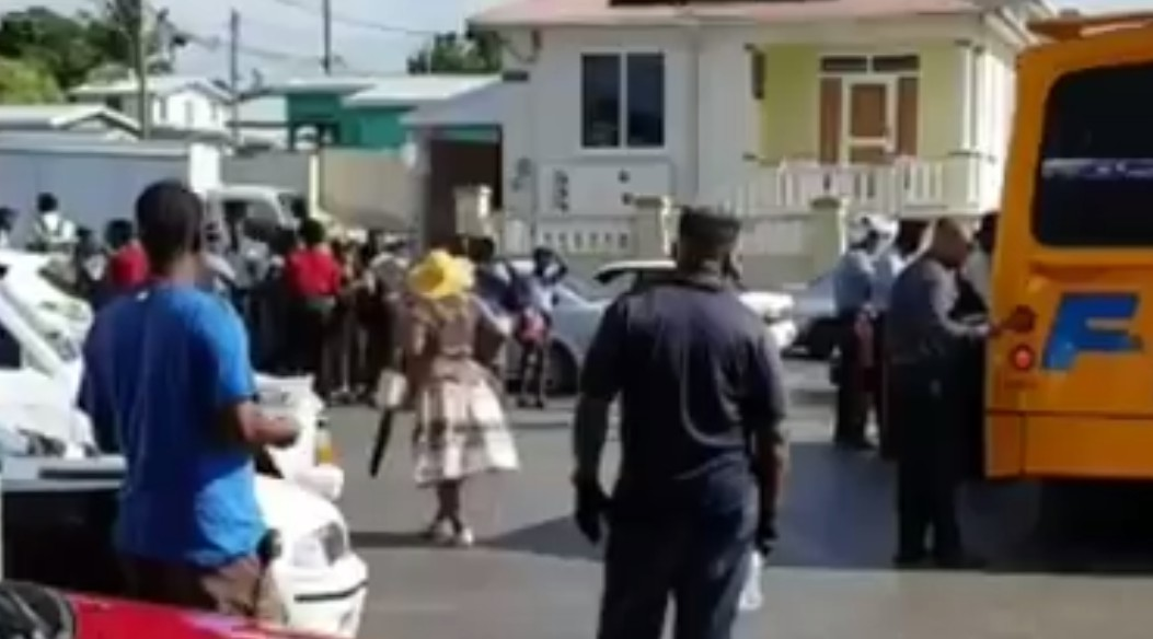 Screengrab from the video of this morning's scene along Black Rock Main Road.