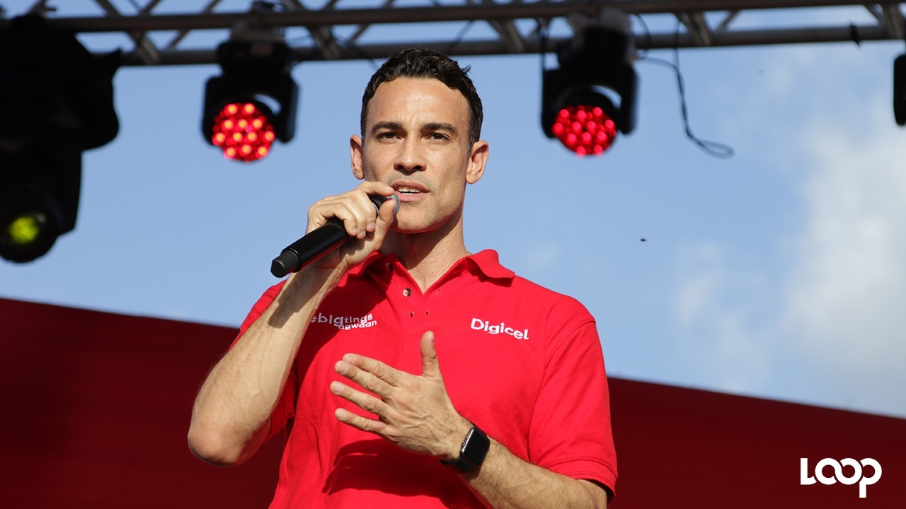 New Digicel Jamaica CEO, Justin Morin at the launch of Destination Data at Mandela Park last week.