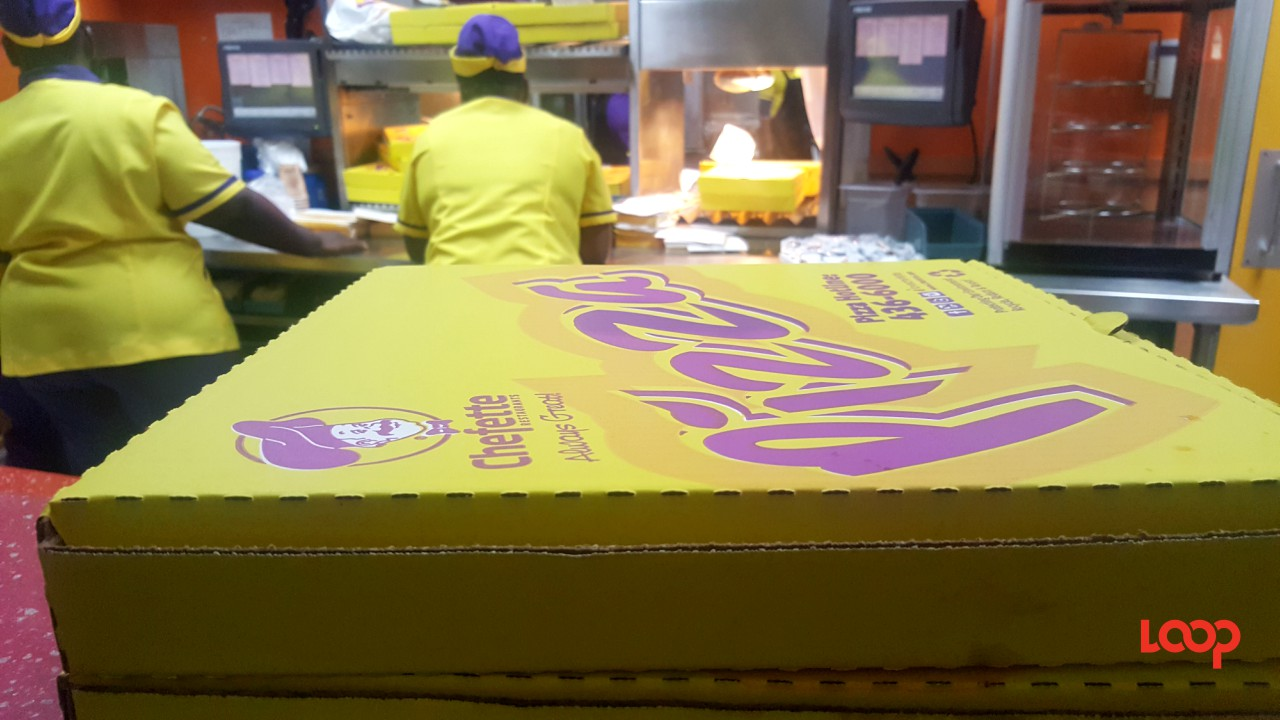 Pizza from Chefette Airport branch.