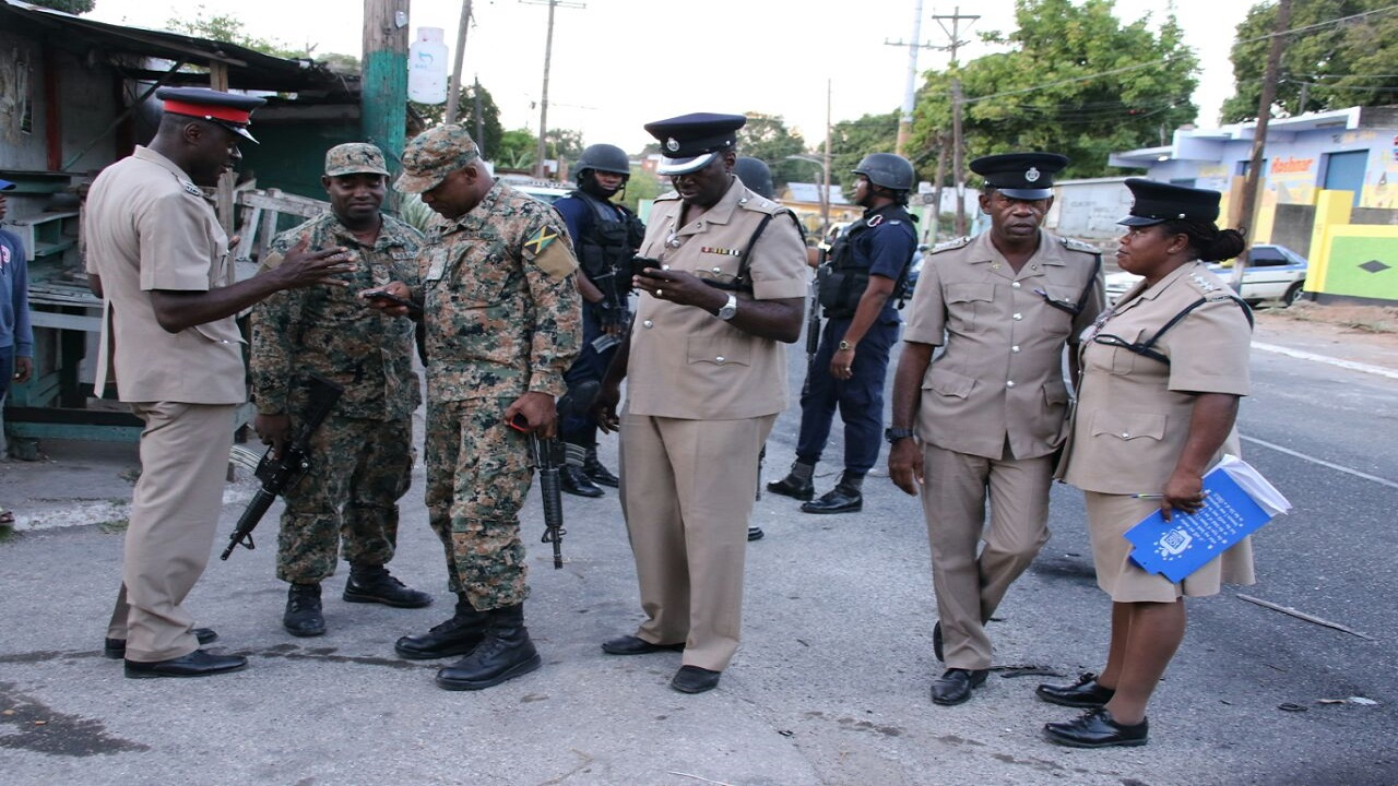 Senior police officers in khaki uniforms numbering as many as the other ranks of security personnel at this location during a flare-up in a section of the Mountain View Avenue area of Eastern Kingston late last year.