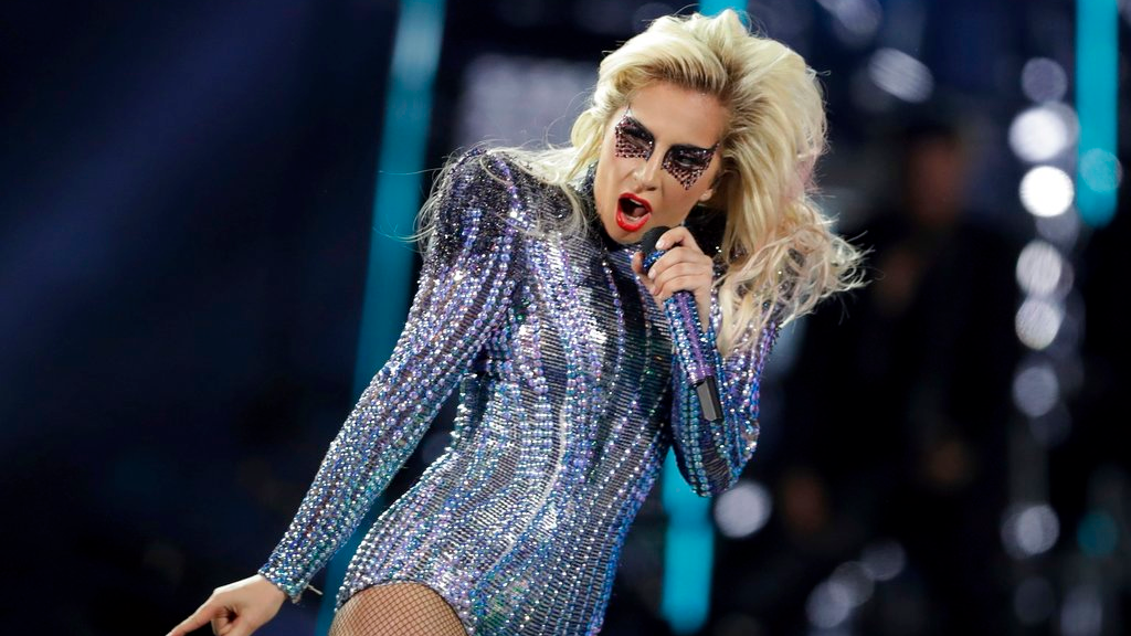 In this file photo dated Sunday, Feb. 5, 2017, Lady Gaga performs during the halftime show of the NFL Super Bowl, in Houston, USA. (AP Photo/Darron Cummings, FILE)