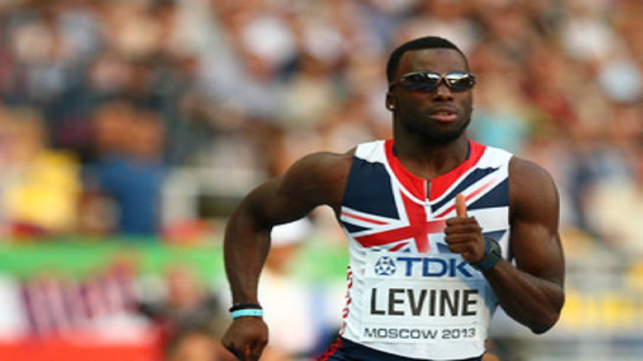 British 400-metre runner Nigel Levine.