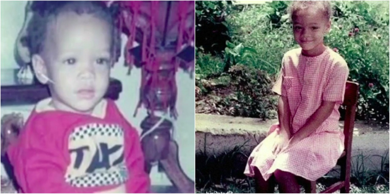Photos of young Rihanna from her cousin's video on IG.