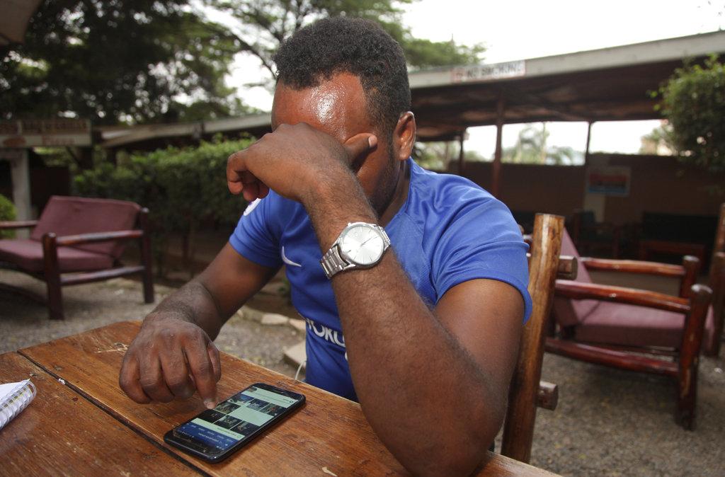 Eritrean migrant Yohannes Tesfagab. (AP Photo/Stephen Wandera)