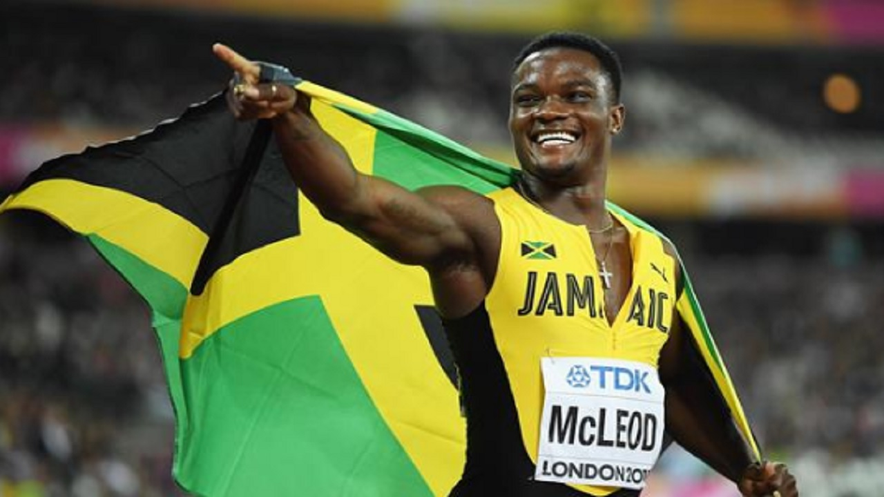 World and Olympic 110m hurdles champion Omar McLeod.