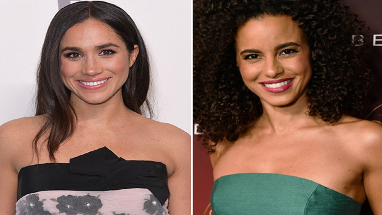 Parisa Fitz-Henley (right) will play Meghan Markle in the Lifetime movie, 'Harry & Meghan: A Royal Romance'.