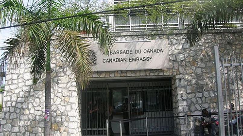 Photo de l'Ambassade du Canada en Haïti. Photo: Loop Haïti/Vladjimir Legagneur
