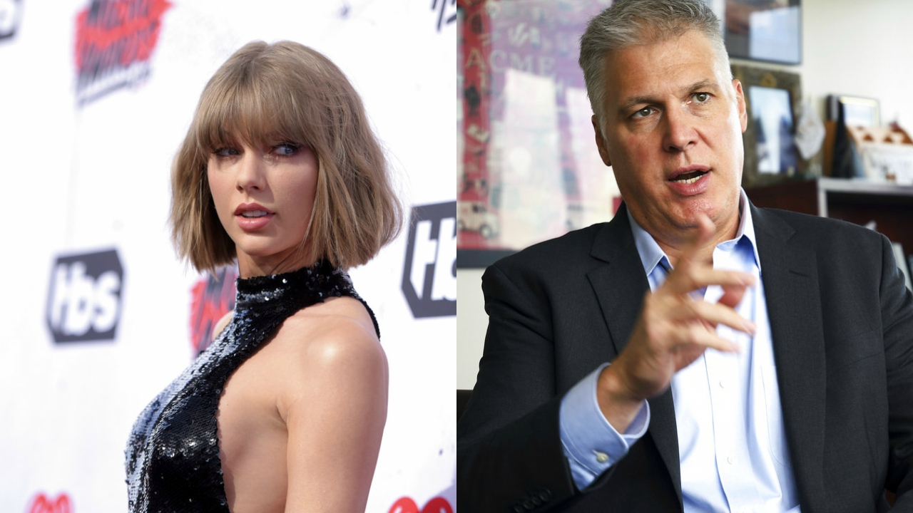 Taylor Swift (left), David Mueller (right).