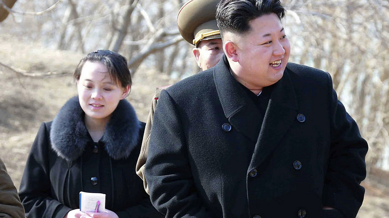 (Image: AP: File image of North Korean leader Kim Jong Un and his sister Kim Yo Jong from 2015)