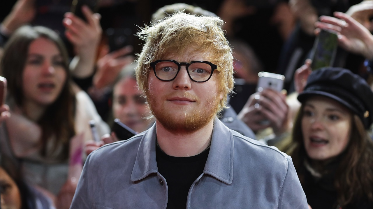 (Image: AP: Ed Sheeran, pictured on 23 February 2018)