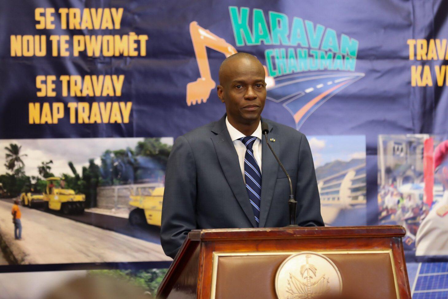 Le Président Jovenel Moise à la conférence-bilan, le 6 février