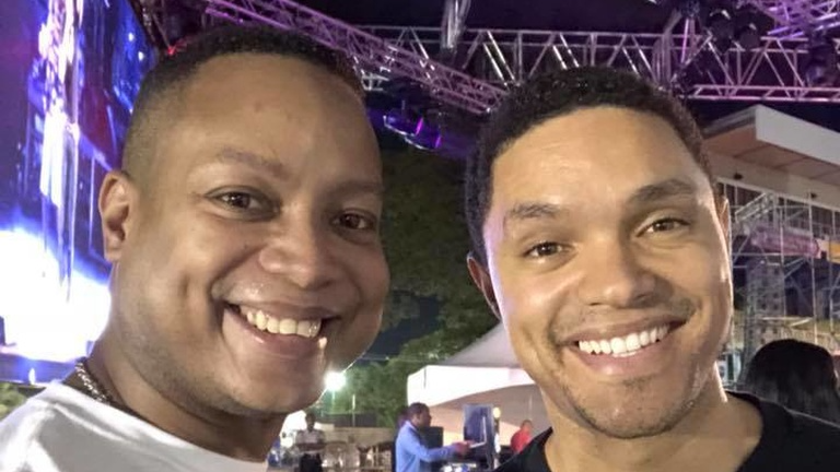 Ian Royer met Trevor Noah at RevelNation.