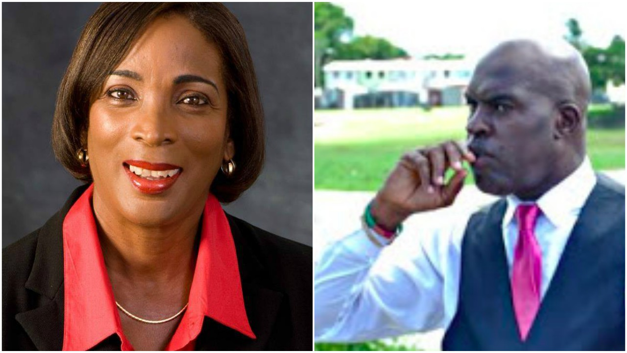 BLP Candidate Sandra Husbands and Minister of Transport and Works, Michael Lashley