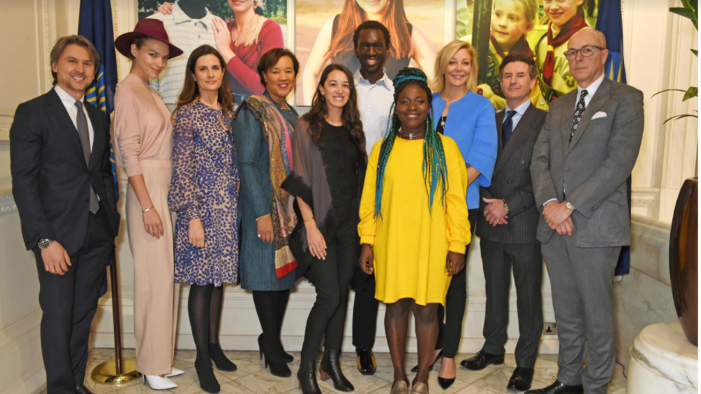 From lleft	to right:Ulric	Jerome,CEO of	MATCHESFASHION.COM,	Arizona Muse, Model,	Livia	Firth, Founder and	Creative Director, Eco-Age,		Patricia Scotland QC,	Secretary-General of	the Commonwealth,	