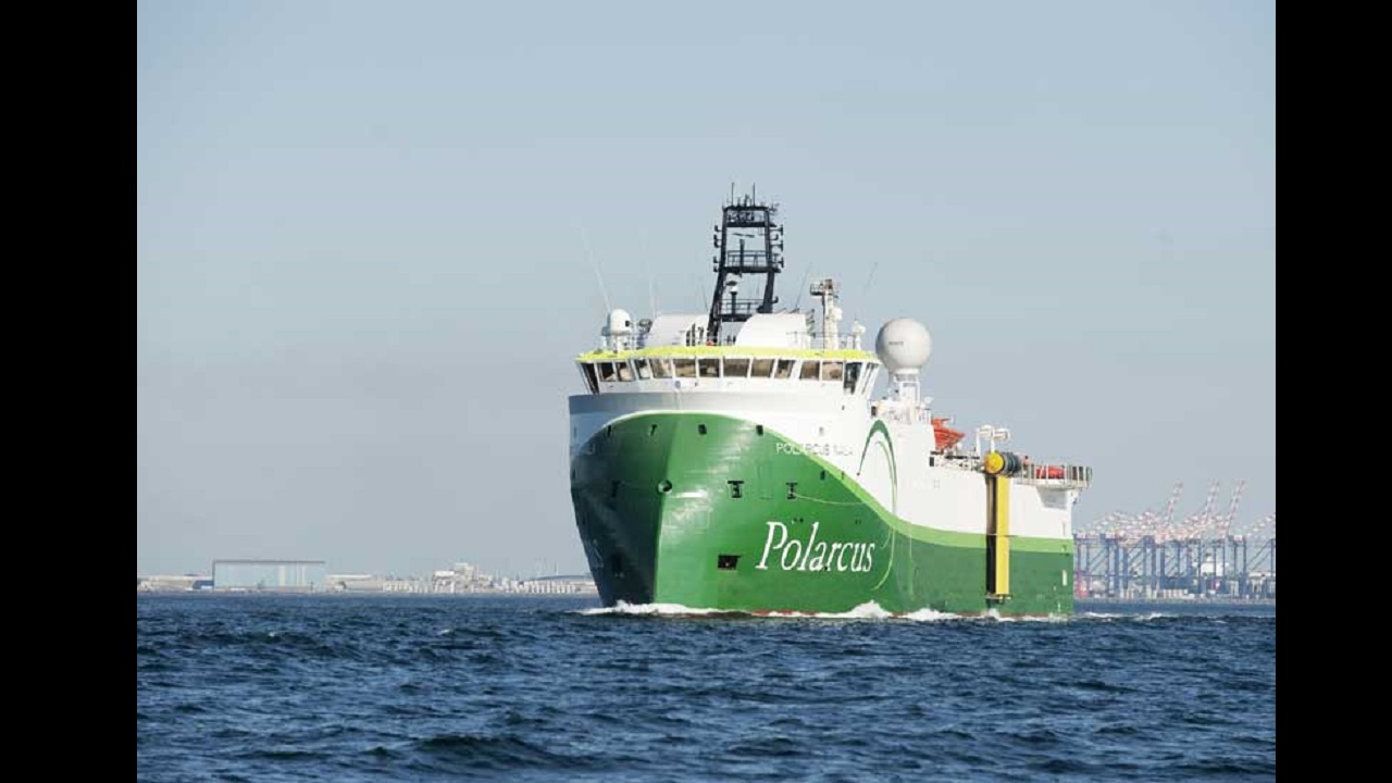 A seismic survey vessel from the fleet operated by marine geophysical company, Polarcus. Polarcus has been contracted by Tullow Oil to carry out the first ever 3D seismic surveys in Jamaica's offshore as the search for oil and gas intensifies.