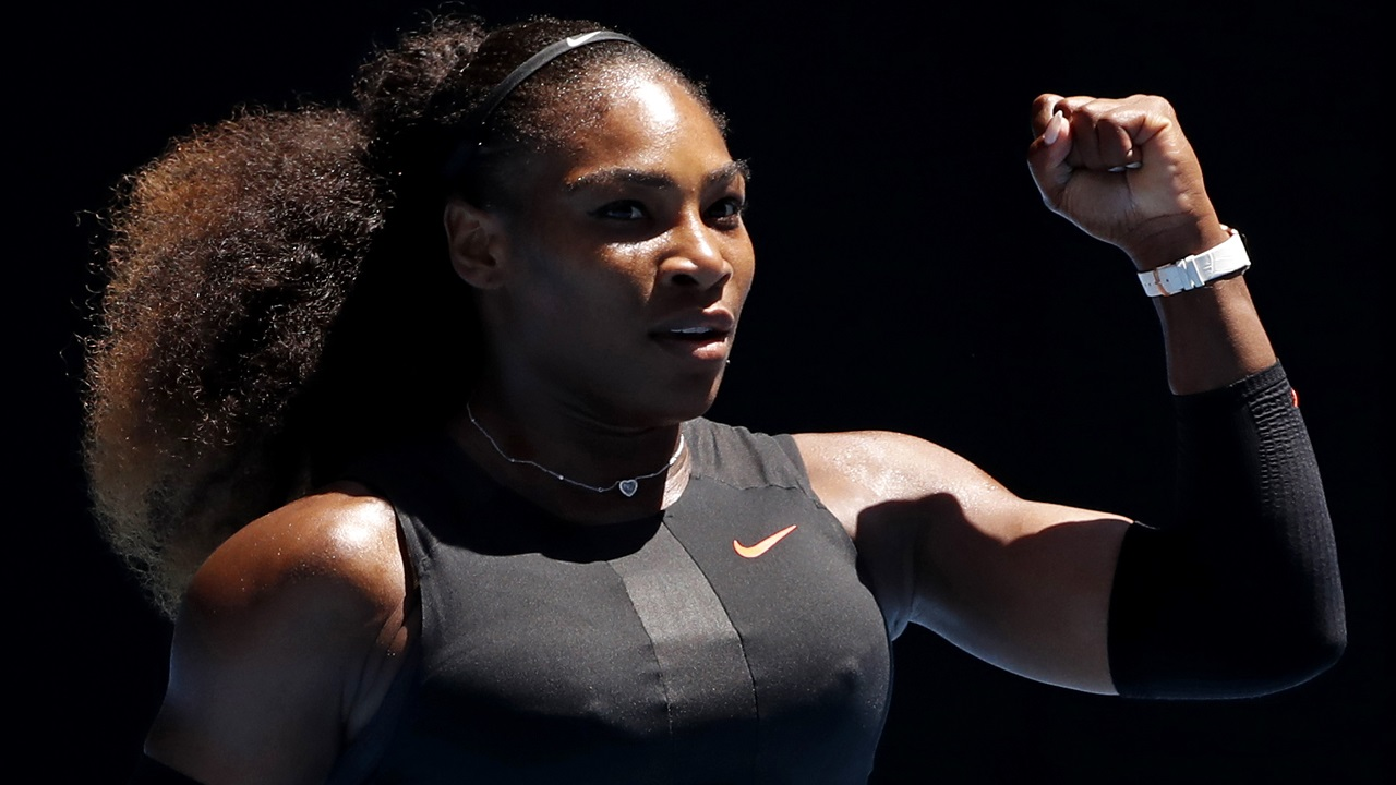 (Image: AP: Serena Williams pictured in a 25 January 2017 file photo)