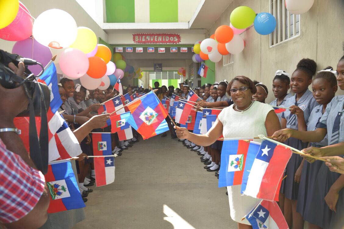 Ecole nationale République du Chili en Haiti. Photo: Twitter Primature