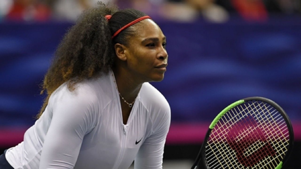 Serena Williams in Fed Cup action.