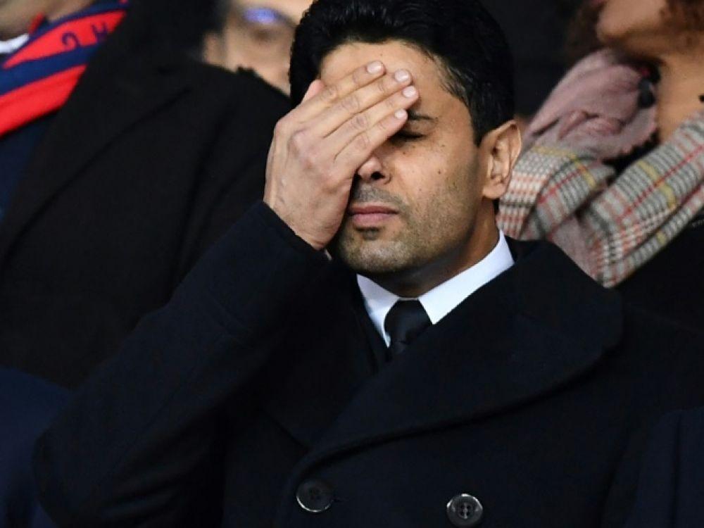"""Le président de la chaîne de télévision qatarie BeIN Sports, Nasser Al-Khelaïfi, condamné à payer 18 millions d'euros pour """"violation de la loi"""" sur la concurrence."""