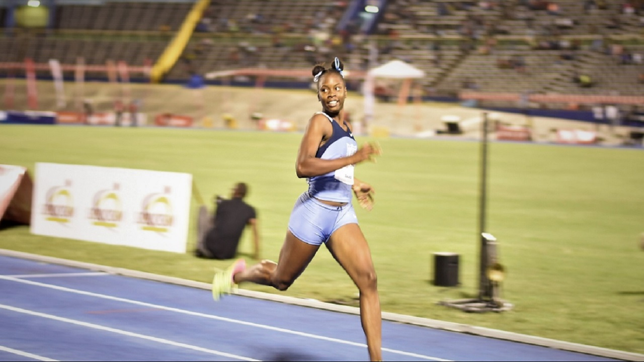 Edwin Allen High's outstanding sprinter Kevona Davis. (PHOTO: Marlon Reid)