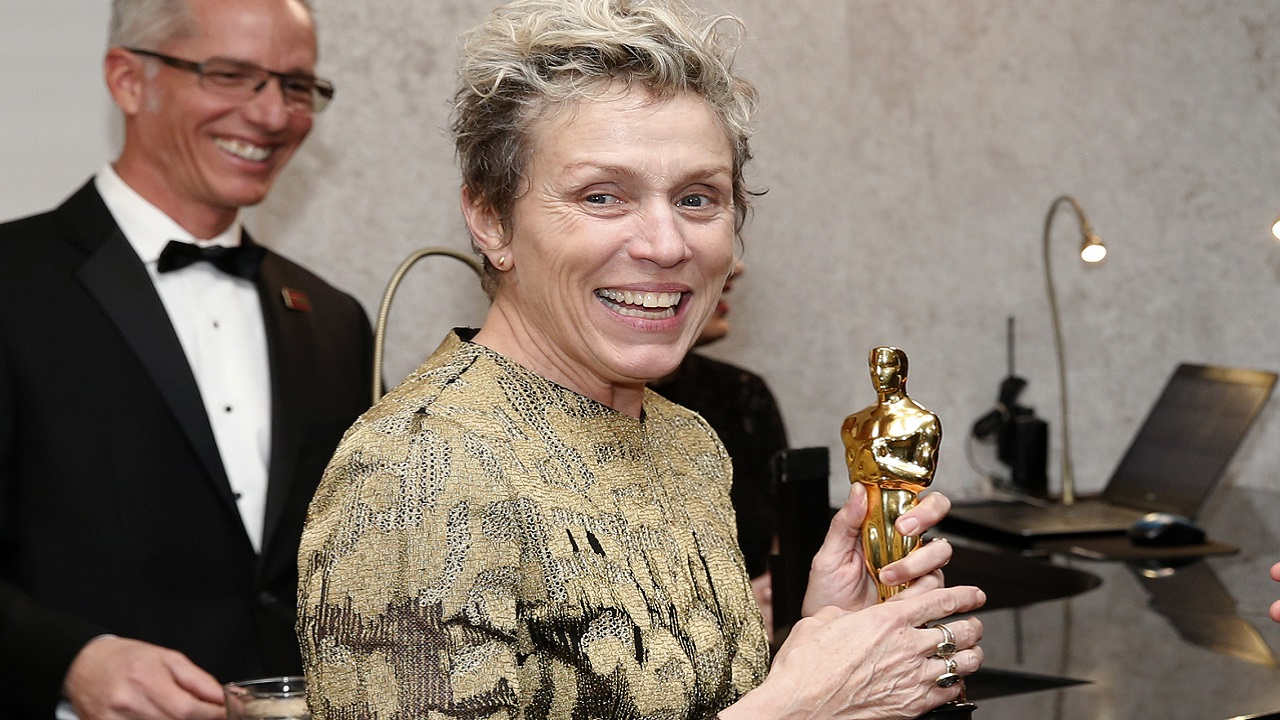 (Image: AP: Frances McDormand at the Oscars on Sunday 4 March 2018)